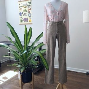 Vintage Lee High Rise Taupe Trouser Pants
